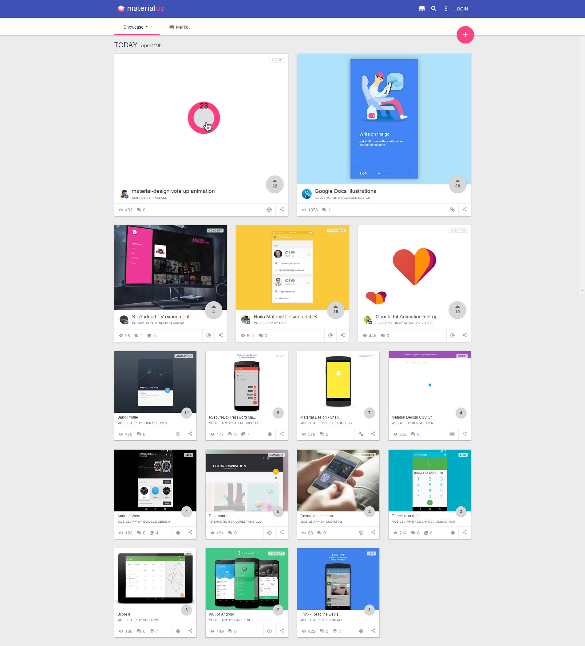 esempio trend web design 2015 Card Design