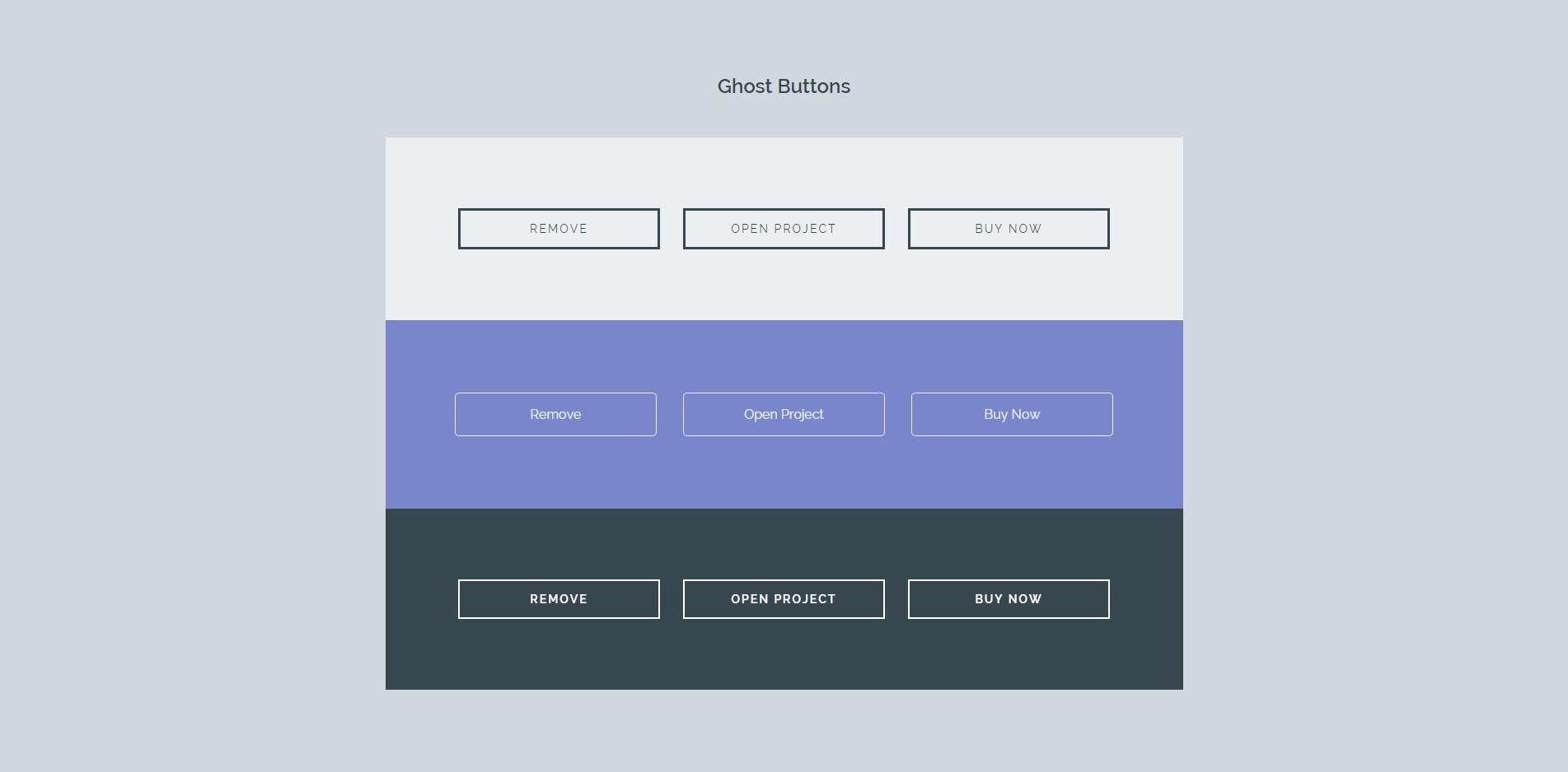 esempio trend web design ghost buttons