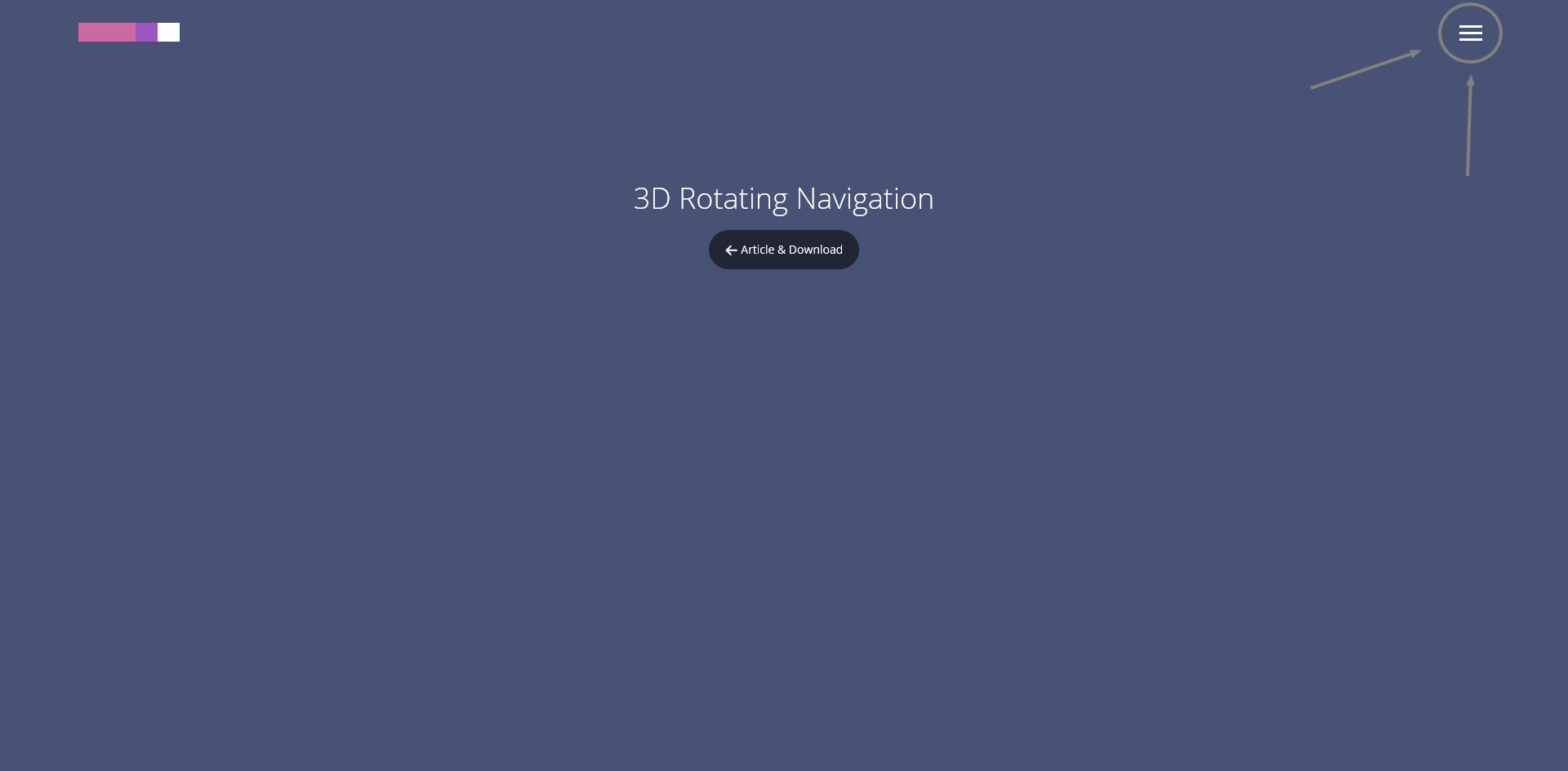 trend web design 2015 esempio Navigation icon